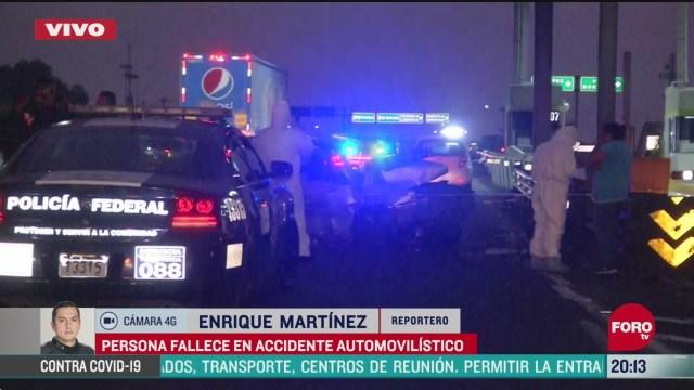 Foto: Accidente en autopista México-Pachuca deja un muerto 24 Abril 2020