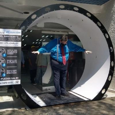 Coronavirus:Alcaldía de Tlalpan instala túneles satinizantes