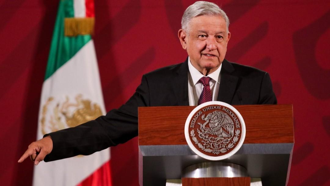 Foto: El presidente Andrés Manuel López Obrador en conferencia de prensa, 10 de abril 2020)