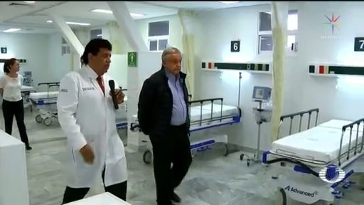 Foto: Coronavirus Amlo Visita Dos Hospitales Pacientes Atendera Casos Covid 3 Abril 2020