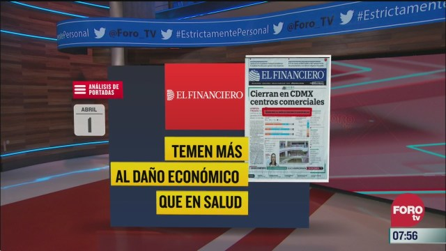 analisis de las portadas nacionales e internacionales del 1 de abril del