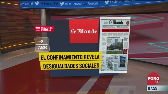analisis de las portadas nacionales e internacionales del 2 de abril del