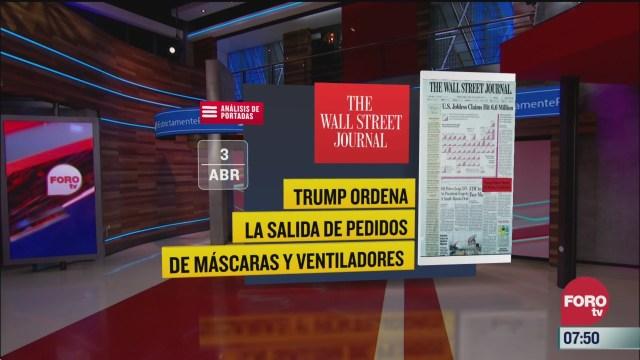analisis de las portadas nacionales e internacionales del 3 de abril del