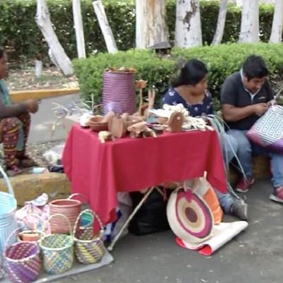 Artesano oaxaqueño intercambia productos por comida en la CDMX