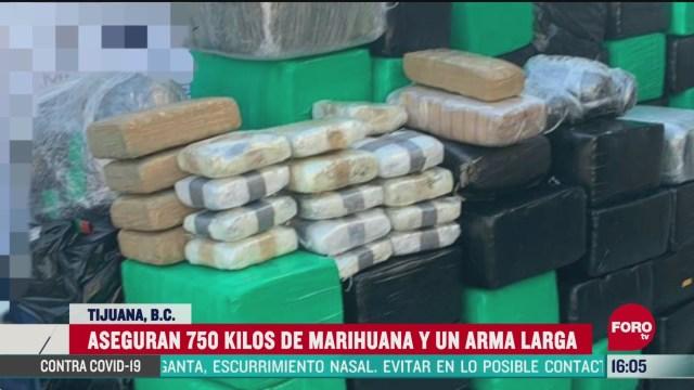 FOTO: 25 de abril 2020, aseguran 750 kilos de marihuana en tijuana baja california