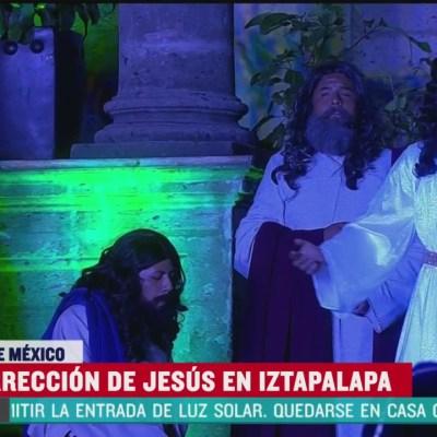 Así se vivió el Sábado de Gloria en Iztapalapa pese al coronavirus