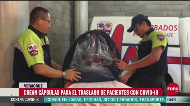 FOTO: bomberos de veracruz crean capsulas para pacientes con coronavirus