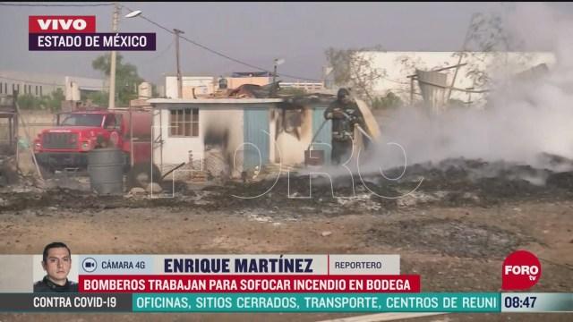 FOTO:19 de abril 2020, bomberos sofocan incendio en zona industrial de cuautitlan edomex