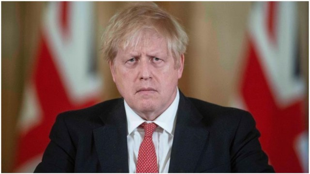 Imagen: Boris Johnson reingresó al hospital tras recibir el alta médica por coronavirus, 5 de abril de 2020 (EFE)