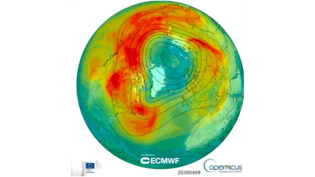 Foto Se cerró el agujero en la capa de ozono más grande del Ártico 29 abril 2020