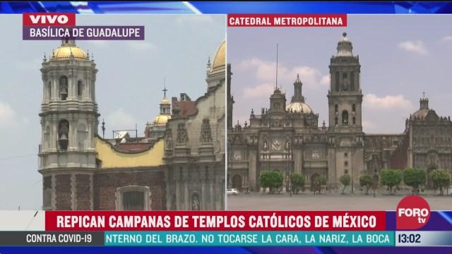 FOTO: centros catolicos repican campanas en conjunto por la salud del mundo