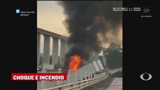 Foto: choque de traileres en la mexico toluca deja un muerto y un herido 23 Abril 2020