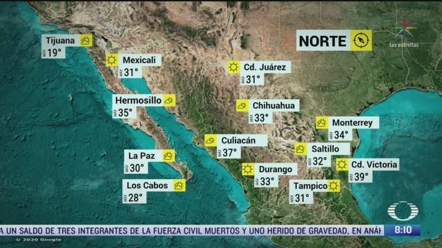 clima al aire nuevo frente frio se aproximara a la frontera norte de mexico