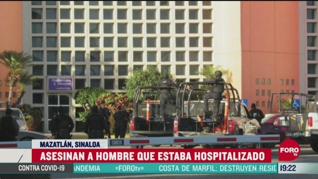 Foto: Comando Asesina Hombre Hospitalizado Mazatlán 6 Abril 2020