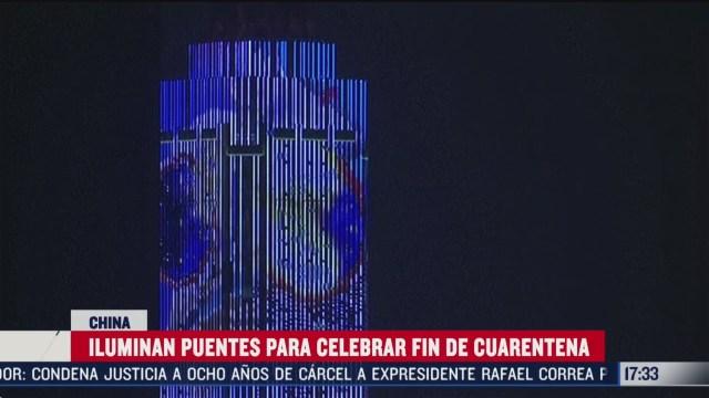 FOTO: con festival de luces wuhan celebra fin de cuarentena por coronavirus