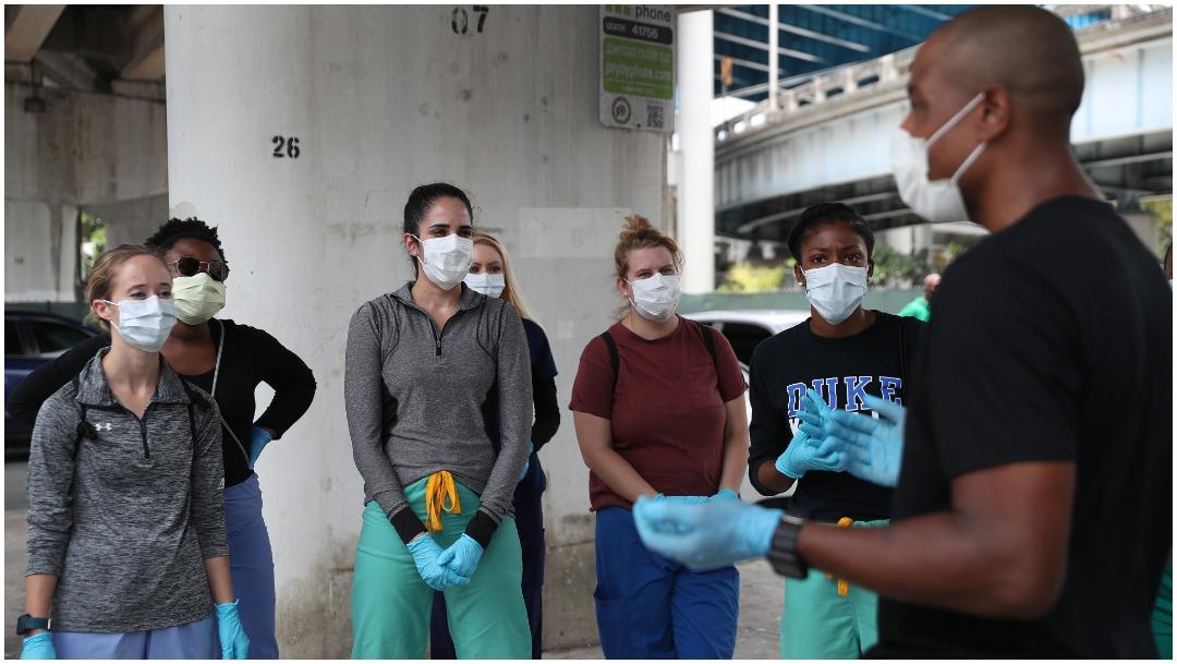 Imagen: Estados Unidos ya rebasó los 700 mil contagiados de coronavirus, 18 de abri de 2020 (Getty Images)