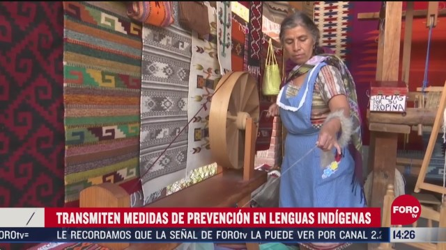 FOTO: difunden mensajes de prevencion en lenguas indigenas contra el coronavirus