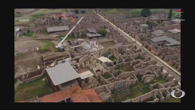 Foto: Video Imágenes Drone Excavación Arqueológica Pompeya 14 Abril 2020