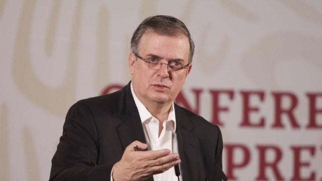 Marcelo Ebrard, secretario de Relaciones Exteriores, durante la conferencia matutina de AMLO el jueves 9 de abril dd 2020 (Foto: Cuartoscuro)