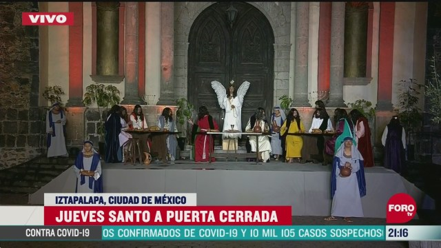 Foto: Escenificación Jueves Santo Viacrucis Iztapalapa 2020 9 Abril 2020