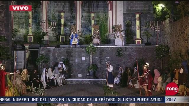 Foto: Escenificación del Jueves Santo sin público en Iztapalapa 9 Abril 2020