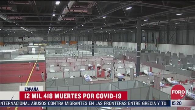 FOTO: 5 de abril 2020, espana reporta este domingo nueva caida en numero de fallecidos