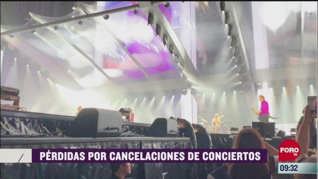 espectaculosenexpreso perdidas por cancelaciones de conciertos
