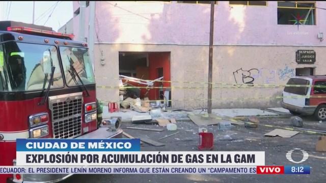 explosion por acumulacion de gas en la gam