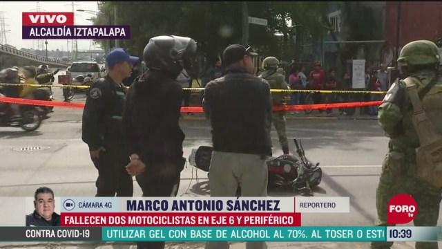 fallecen dos motociclistas en eje 6 y periferico