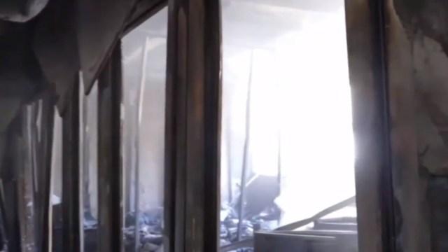 FOTO: Encapuchados incendian instalaciones de la FES Acatlán de la UNAM, el 5 de enero de 2020