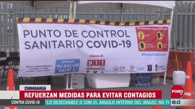 FOTO: filtros sanitarios en cruces internacionales de cd juarez por coronavirus