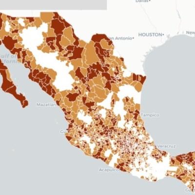 Mapa y estadísticas de coronavirus en México del 22 de abril de 2020
