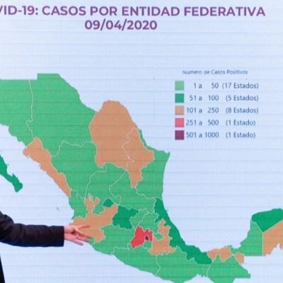 Foto: Conferencia de Hugo López-Gatell del 9 de abril de 2020. Cuartoscuro