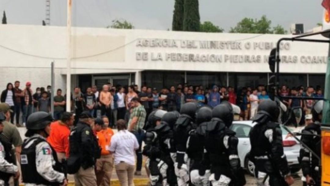 Foto: Protesta de migrantes en Piedras Negras, Coahuila. Twitter