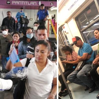 Evidencian en redes sociales que usuarios del metro no cumplen con uso obligatorio de cubrebocas