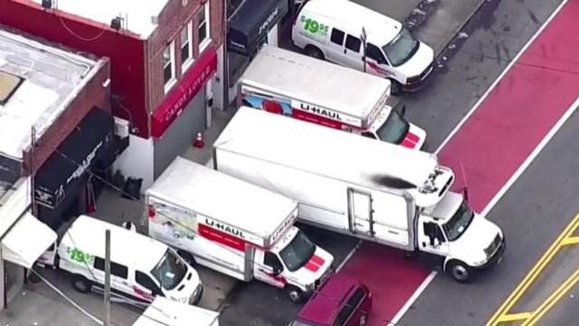 Foto: Camiones de la cadena U-Haul en Nueva York. Reuters