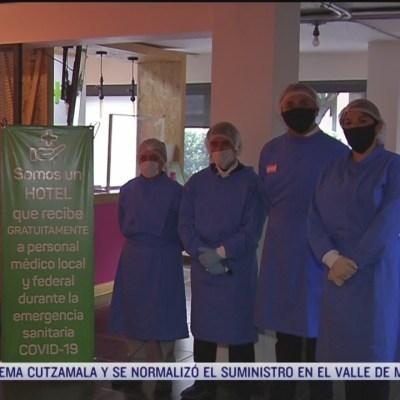 Hoteles en CDMX dan servicio gratis a médicos que atienden coronavirus