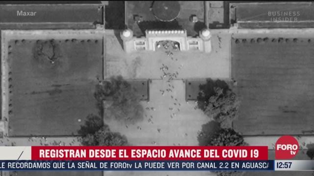 imagen satelital de la tierra durante epidemia de coronavirus
