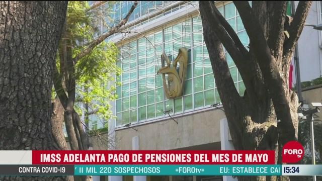 FOTO: imss adelanta pago de pensiones correspondientes a mayo