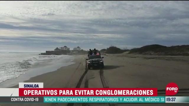 Foto: Mantienen operativo en playas de Sinaloa 6 Abril 2020