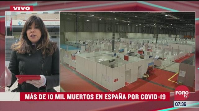mas de 10 mil muertos en espana por pandemia de coronavirus