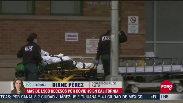 FOTO: 25 de abril 2020, mas de mil 500 muertos por coronavirus en california estados unidos