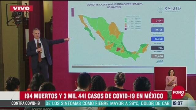 Foto: Conferencia Coronavirus México 194 Muertos Coronavirus Contagios 9 Abril 2020