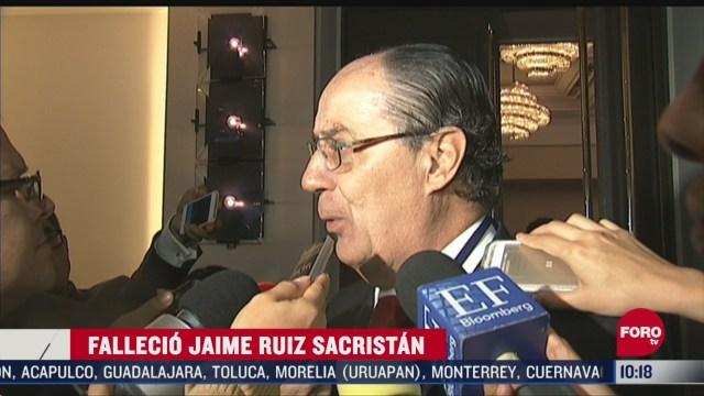 FOTO:12 de abril 2020, muere jaime ruiz sacristan presidente de la bolsa mexicana de valores