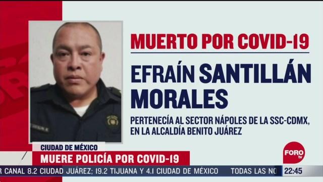 FOTO: 5 de abril 2020, muere primer policia por coronavirus en la ciudad de mexico