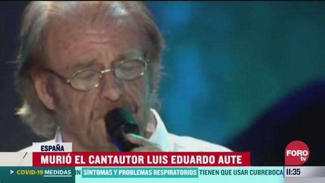 FOTO: 4 de abril 2020, murio el cantautor luis eduardo aute