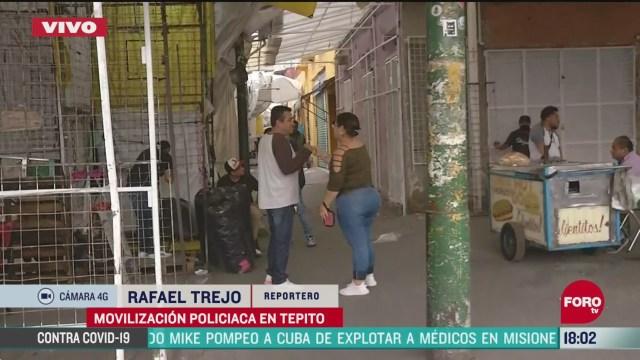 FOTO: operativo en tepito deja nueve detenidos