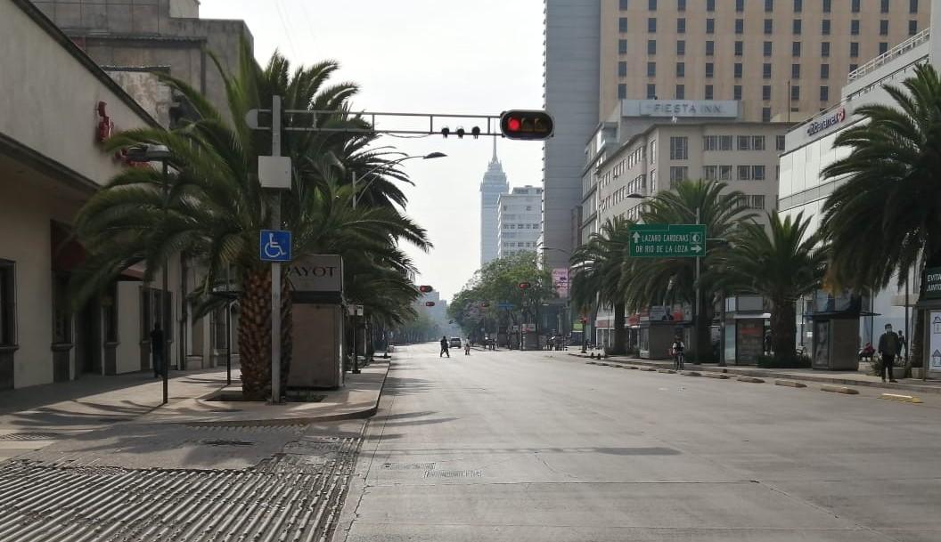 panoramica de la ciudad de méxico durante contingencia