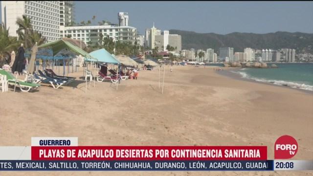 Foto: Coronavirus Playas Acapulco Lucen Vacías Contingencia Covid-19 3 Abril 2020