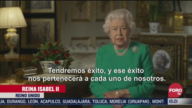 FOTO: 5 de abril 2020, reina isabel ii llama a los britanicos a conservar la unidad durante crisis sanitaria